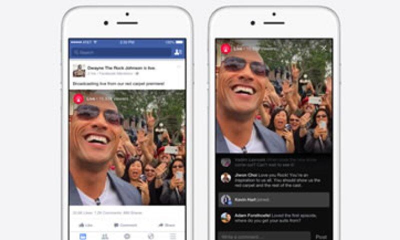 Personalidades como The Rock podrán hacer transmisiones en vivo en Facebook. (Foto: Facebook)