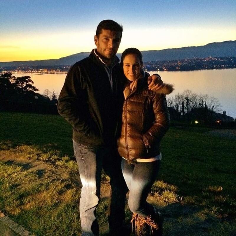 Jacky y Martín disfrutando un paseo por Ginebra.