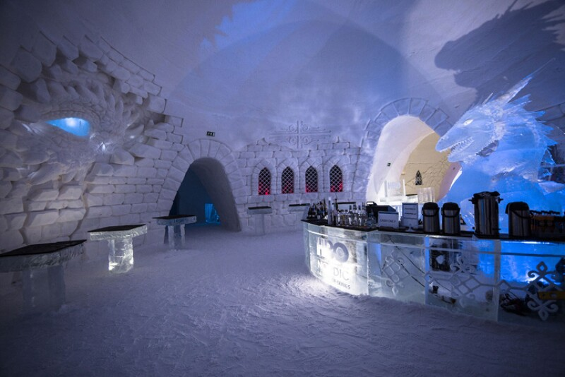 Hotel de hielo de Game Of Thrones