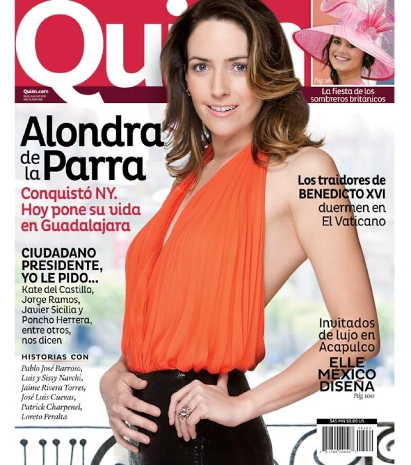 Alondra de la Parra fue portada de Quién en julio de 20012.