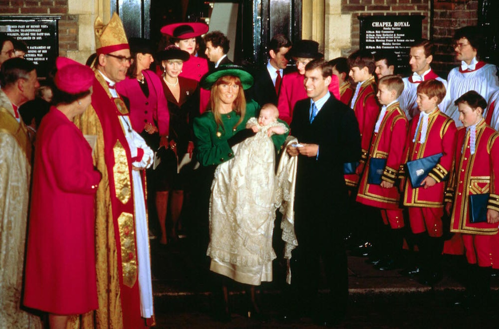 CHRISTENING OF PRINCESS BEATRICE OF YORK, LONDON, BRITAIN - 1988