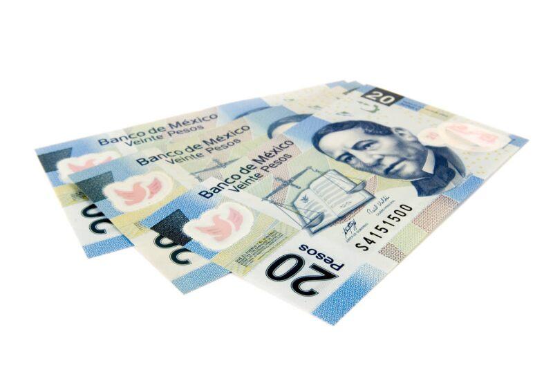 20 pesos tipo de cambio peso