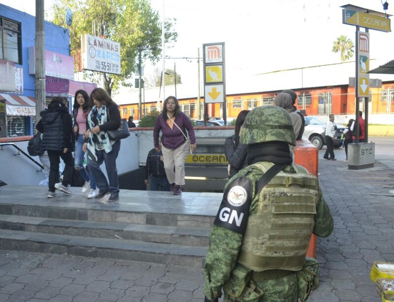 Guardia Nacional en el Metro