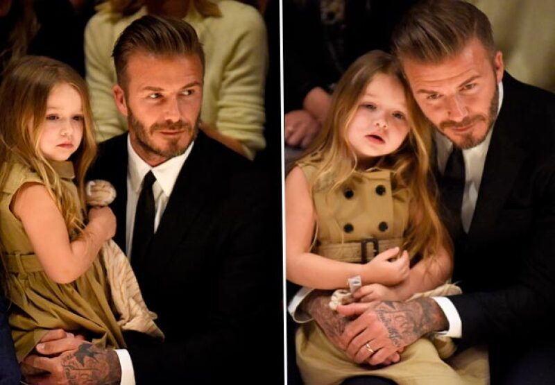 La gran relación de Beckham y su hija acaparó la atención de las cámaras.