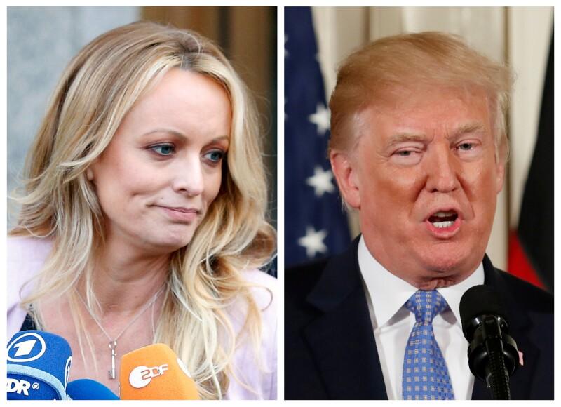 Stormy Daniels y Donald Trump