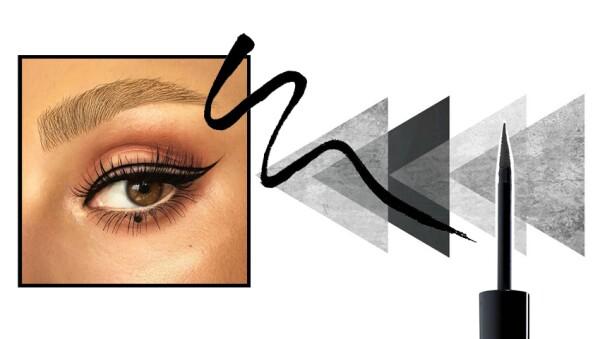 El negative space eyeliner es la tendencia del momento.