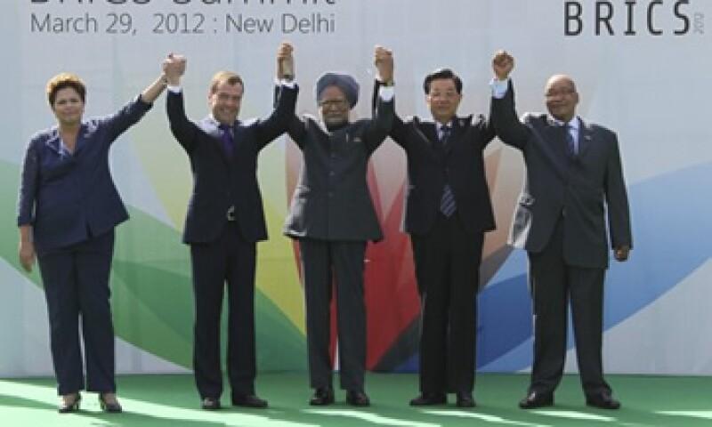 Los líderes de los BRICS se reunieron este jueves en Nueva Delhi entre fuertes medidas de seguridad.  (Foto: Reuters)
