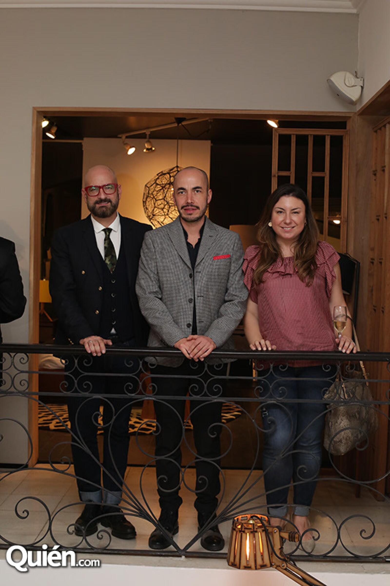 German Velasco,Rodrigo Alegre y Elizabeth Gómez