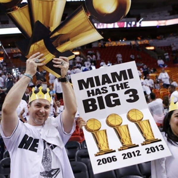 Miami Heat fans NBA final