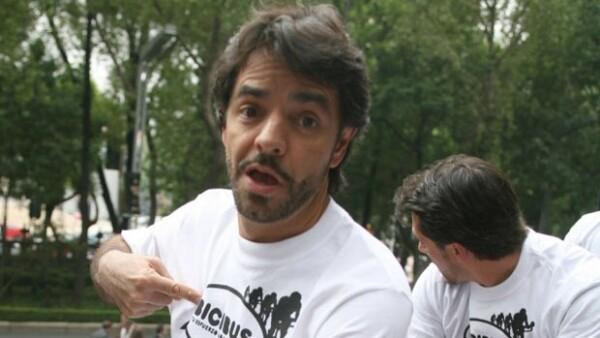 Eugenio Derbez trató de hacerse el chistoso, pero no le salió tan bien.