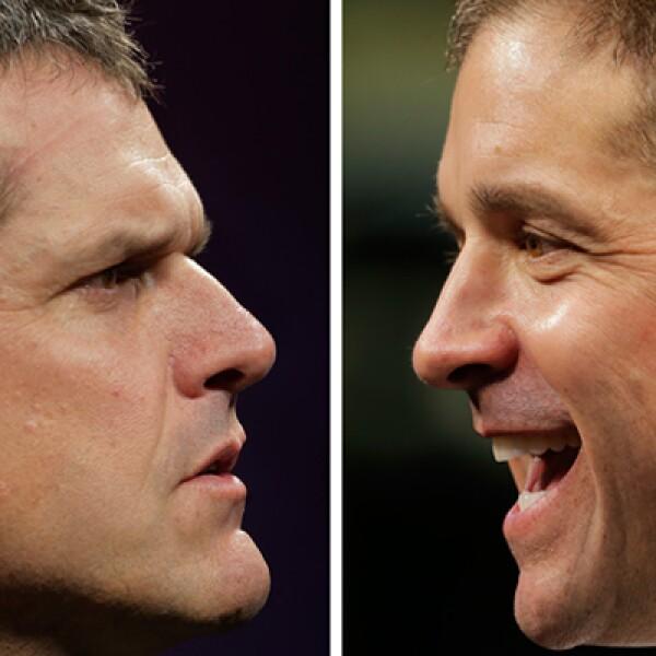 En el Super Bowl XLVII se enfrentarán los hermanos Jim y John Harbaugh, entrenadores en jefe de ambos equipos.