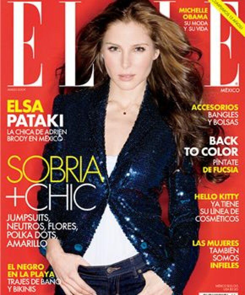 La modelo y actriz Elsa Pataky posó para la portada de la famosa revista de moda que se renueva.