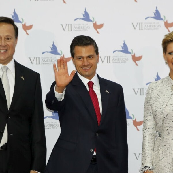 Con el presidente de Panamá y su esposa