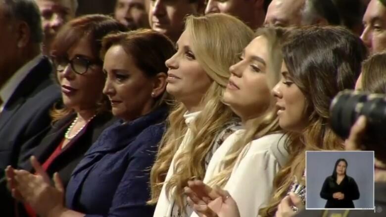 Dirigentes y la familia presidencial