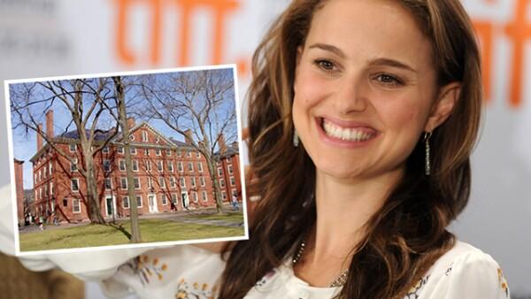 Natalie Portman estudió psicología en la Universidad de Harvard. Además habla perfectamente hebreo, japonés y francés.