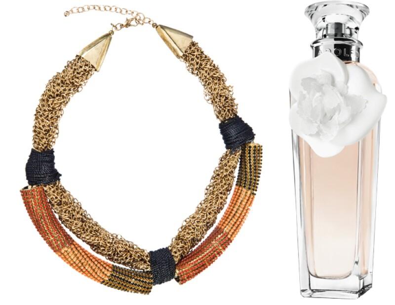En bisutería, $1,199; Adolfo Domínguez; Anatole France 86, Polanco. Perfume, $990, tiendas departamentales