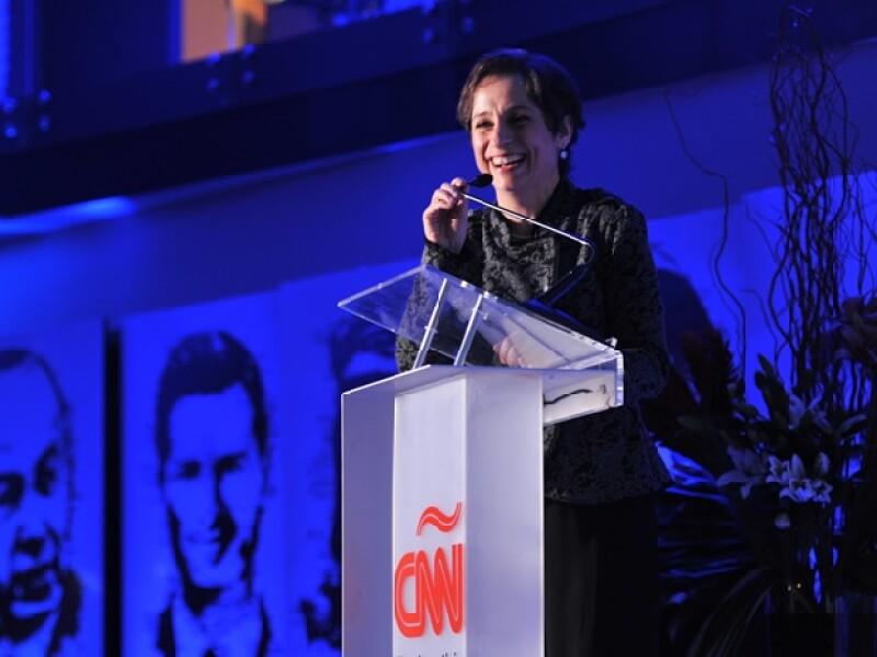 La periodista agradeció a los presentes su fidelidad estos seis años que ha transmitido su programa por la cadena CNN