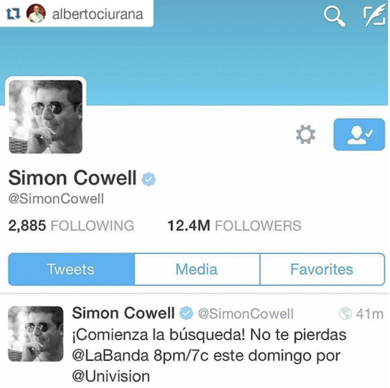 La conductoraa compartió una imagen publicada por el presidente de Univision.