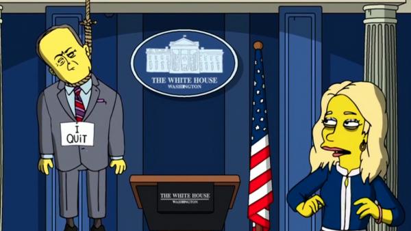 La Casa Blanca de Trump según los Simpson