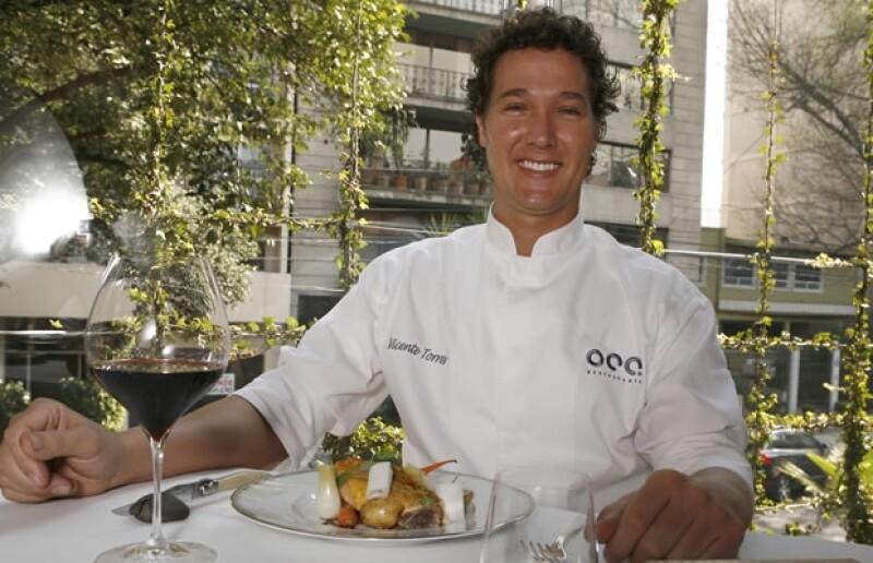 El chef Vicente Torres es propietario del restaurante Oca.