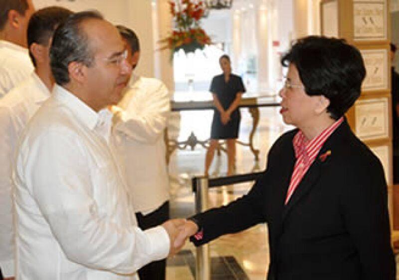 La secretaria general de la OMS, Margaret Chan, se presentó en la Reunión de Alto Nivel contra la influenza en México.  (Foto: Notimex)