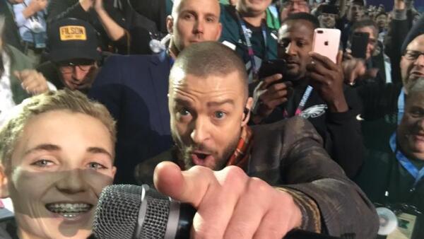 Ryan McKenna y Justin Timberlake