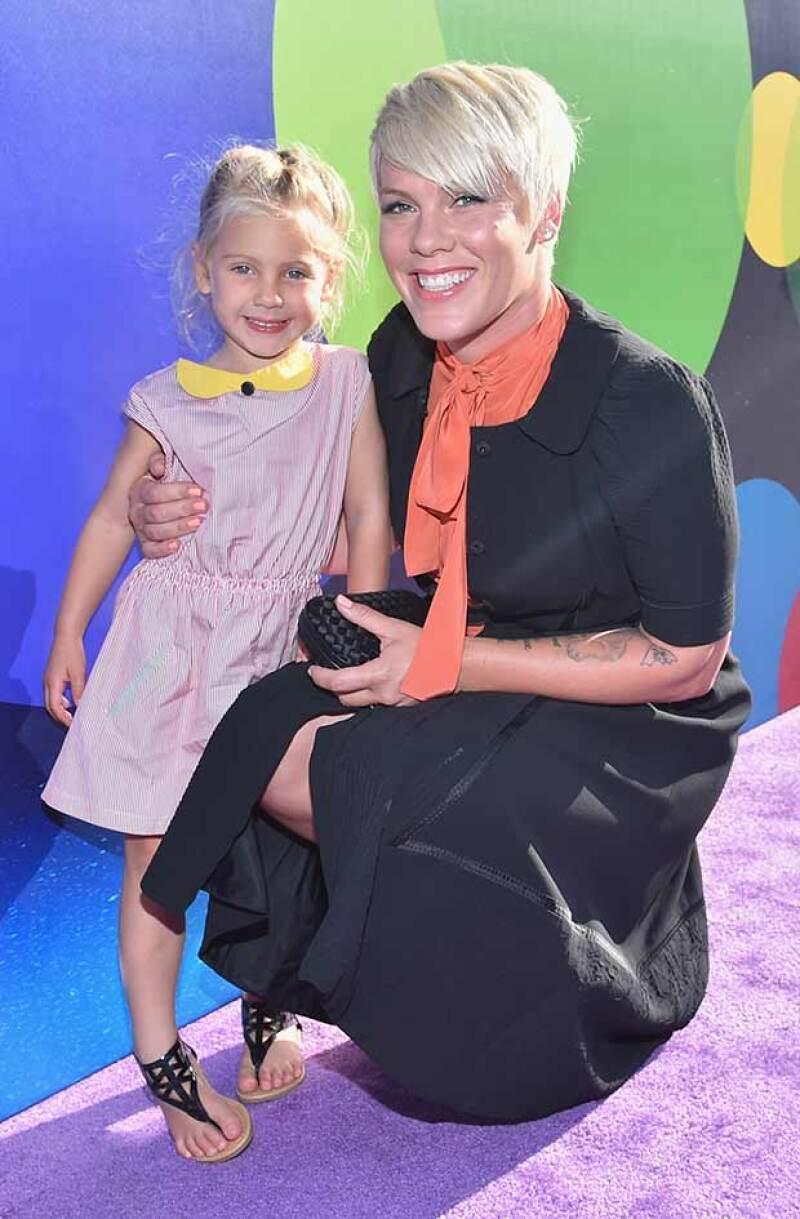 """Willow Sage Hart, de cuatro años, mostró durante el lanzamiento de la película """"Inside Out"""" que heredó los looks y una auténtica personalidad como la de su famosa madre."""