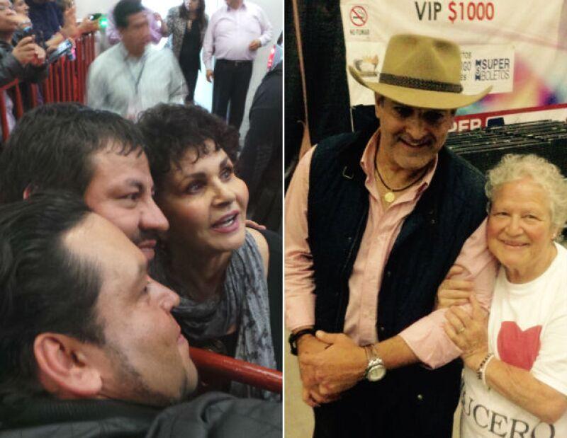 La señora Lucero León y Michel Kuri, pareja de Lucero, convivieron con los asistentes.