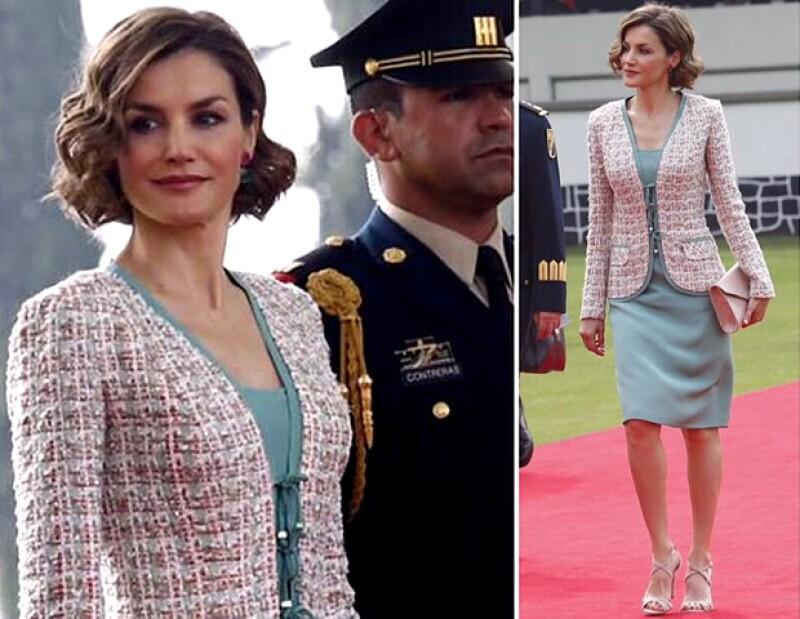 De trajes de dos piezas hasta vestidos de diseñadores mexicanos: así han sido los looks de Angélica Rivera y Letizia de España durante la visita de los reyes a México.