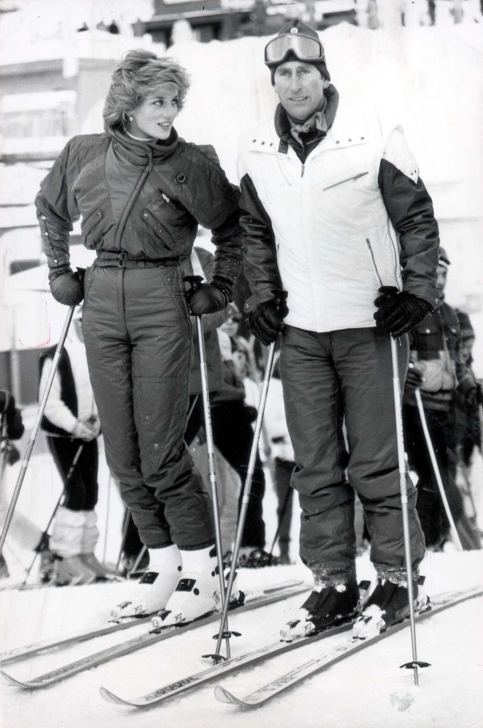 Prince Of Wales & Diana - Winter Sports 1980-89 Charles And Diana Yesterday In Liechtenstein Princess Diana Walked Off The Ski-slopes Yesterday Leaving Prince Charles To Ski Alone And Mumuring: 'i'll Probably Get It In The Neck For This.' As The P
