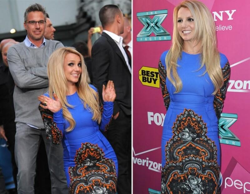 Britney estuvo acompañada por su prometido Jason Trawick.