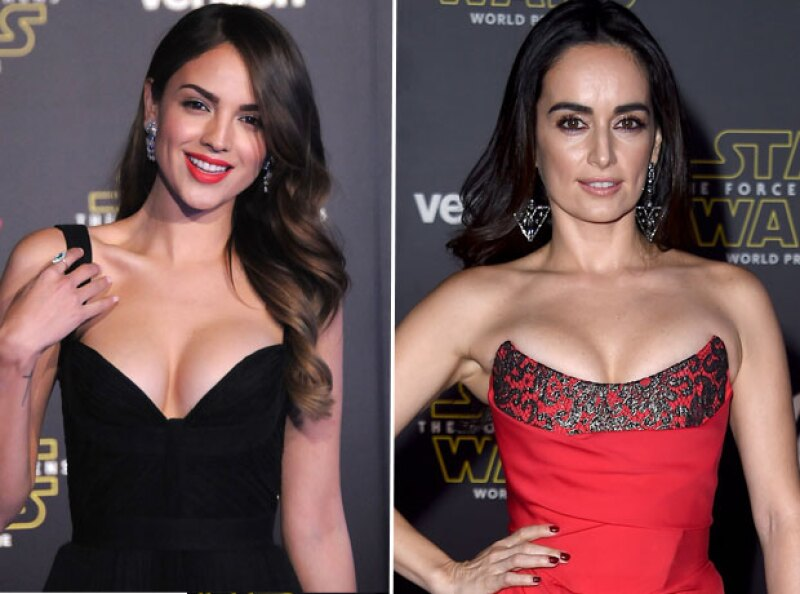 Las guapas actrices mexicanas desfilaron por la alfombra roja por el estreno del esperado VII episodio de Star Wars, The Force Awakens, que se hizo en Los Ángeles.