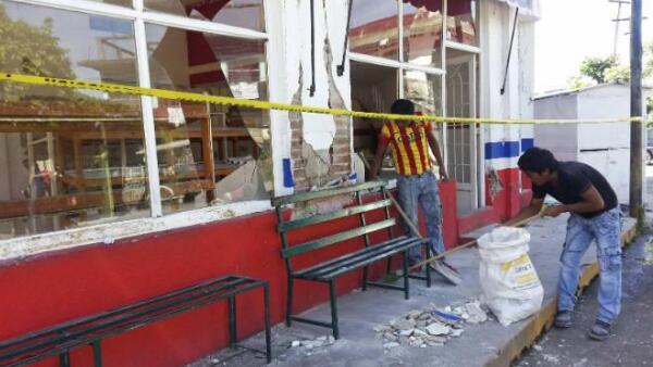 Secuelas del sismo del 7 de julio en Chiapas