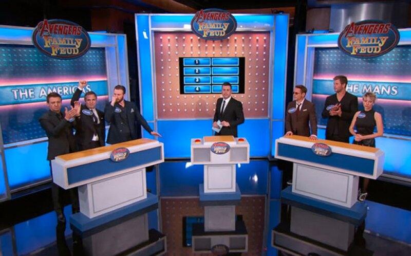 En un juego de preguntas y respuestas con Jimmy Kimmel, Scarlett Johansson, Robert Downey Jr., Chris Evans, Mark Ruffalo, Chris Hemsworth y Jeremy Renner se enfrentaron en una muy divertida batalla.