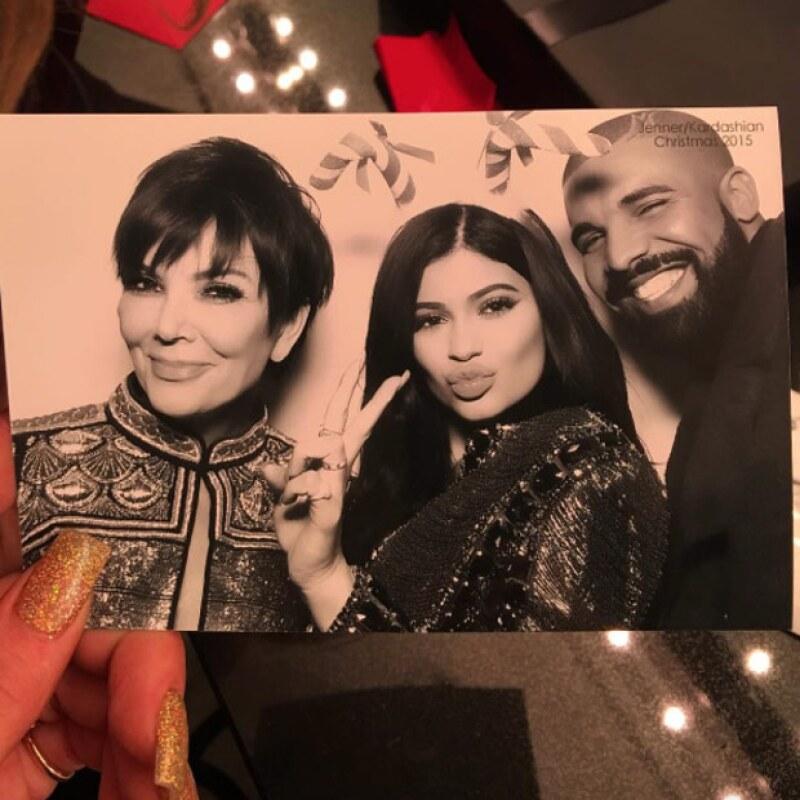 Kris, Kylie y Drake.