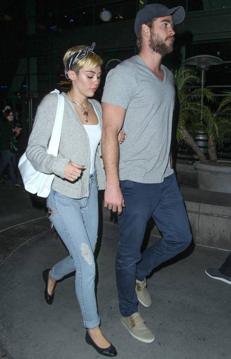 Miley y Liam han dejado de exhibirse en público. Foto: Grosby Group)