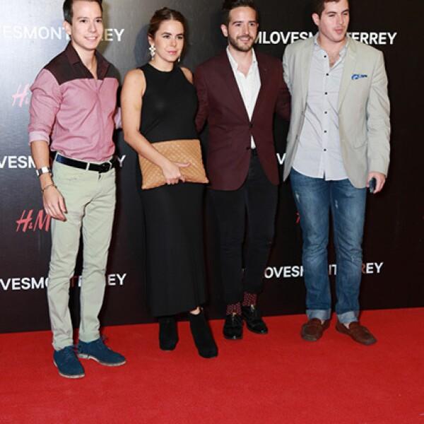 Alfonso Zertuche,Debby Fuentes,Lalo Rodríguez y Juan Pedro García