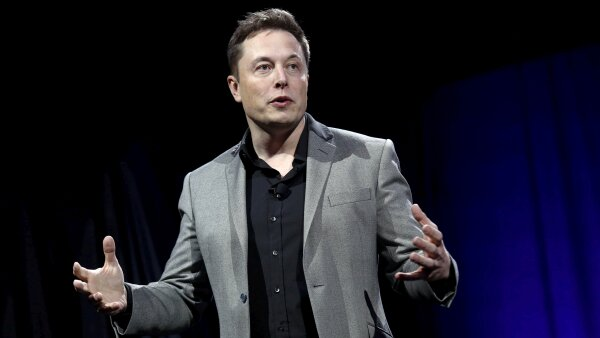 FILE PHOTO: Tesla Motors CEO Elon Musk reveals the Tesla Energy Powerwall Home Battery during an event in Hawthorne California