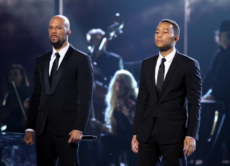 """John Legend y Common realizaron una emotiva interpretación de """"Glory"""", el tema de la película """"Selma""""."""