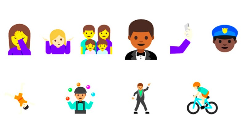 Ahora podrás usar figuras más estilizadas y con distintos tonos de piel para expresarte en tus mensajes.