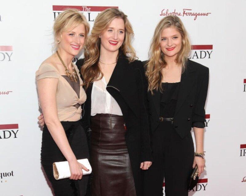 Mamie, Louisa y Grace Gummer, hijas de Meryl Streep.