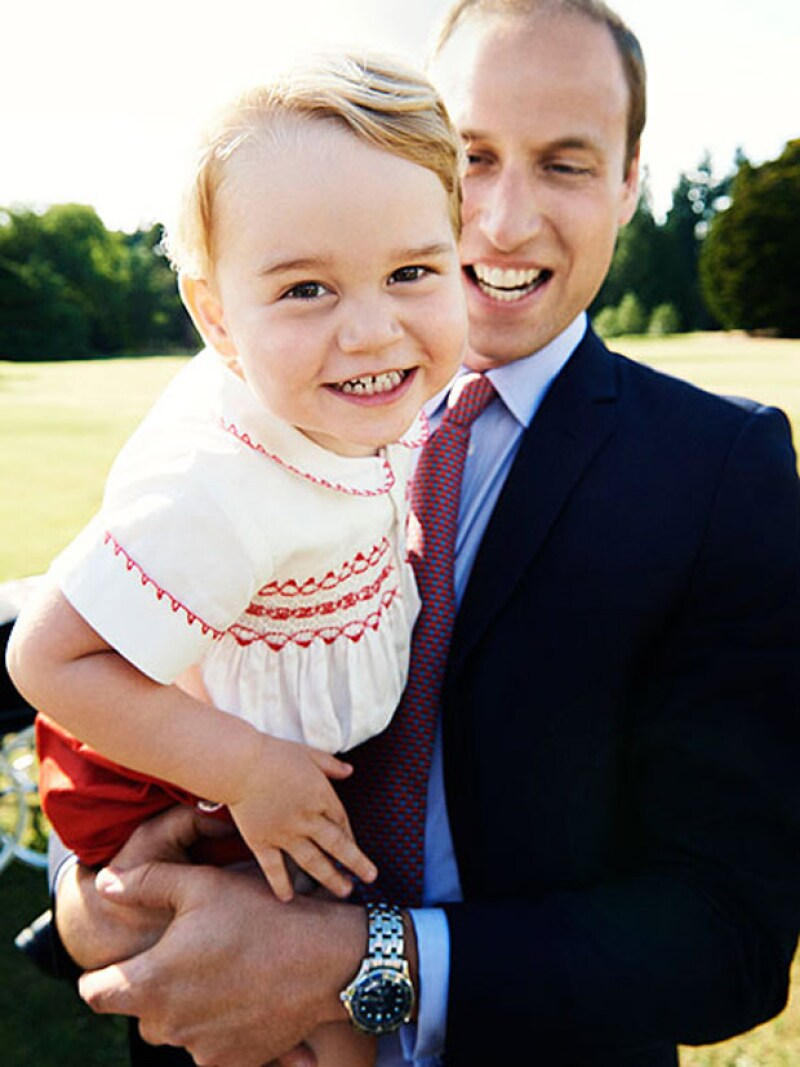 William es un gran padre de George y Charlotte.