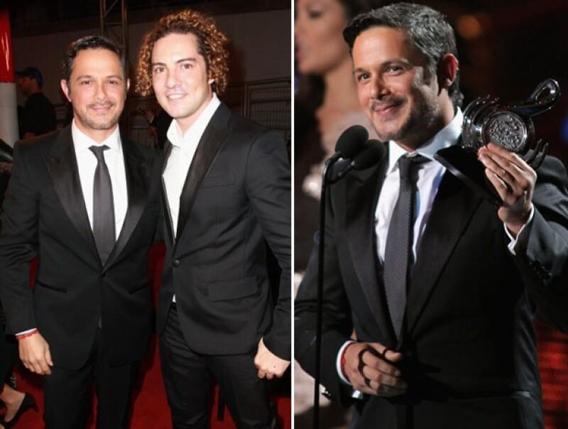 Los españoles se mostraron muy felices de poder participar en este evento. Alejandro Sanz recibió el premio al artista de pop masculino.
