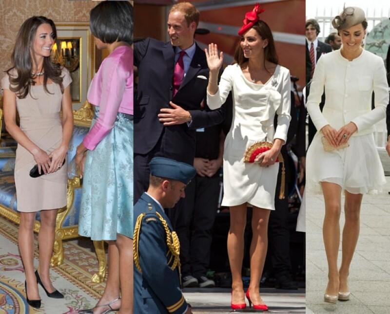 A la izquierda durante su reunión con Michelle Obama, la foto del centro es de su recorrido por Canadá y la última durante las carreras.