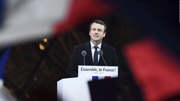 El discurso de la victoria de Emmanuel Macron