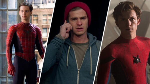 Spider-Man y sus tres actores.