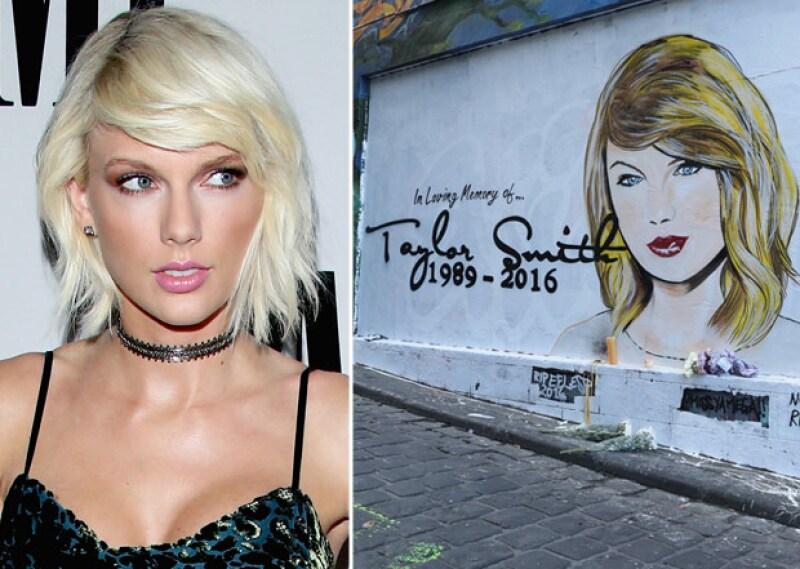 Hace unas horas comenzó a circular una imagen en la que aparece un graffiti de la cantante con la fecha de su nacimiento ¿y su muerte?