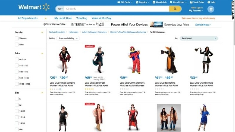 Walmart disfraces gordas gorditas