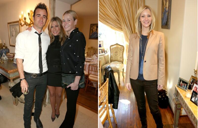 Chelsea Handler, Justin Theroux y Lisa Kudrow fueron algunos de los famosos invitados al evento.