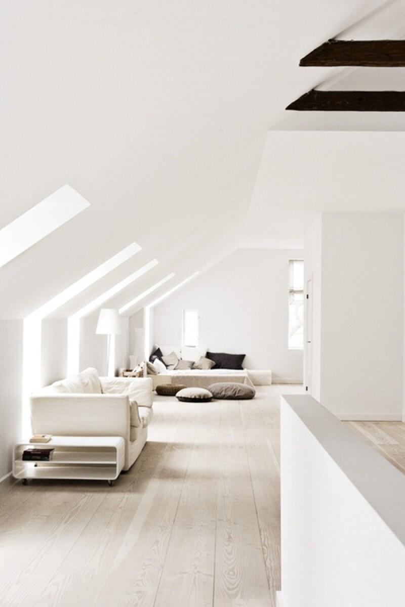 Existen diferentes tonalidad de blanco que combinan perfectamente entre sí.